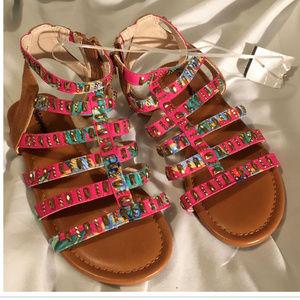 Girls Size 2 Stevies Roman Sandals Cute New